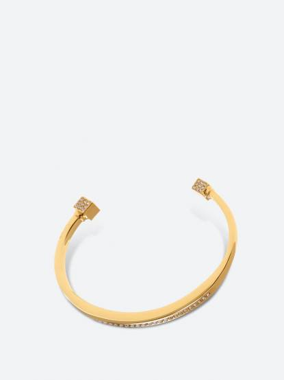 VITA FEDE 方型頂施華洛世奇水鑽硬式細手環