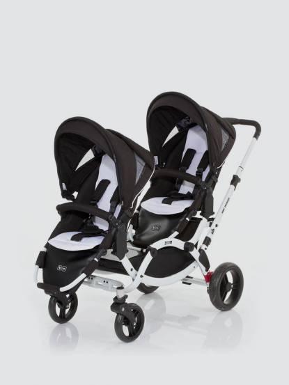 ABC Design 2018 ZOOM 嬰兒雙人推車 - 個性黑白款