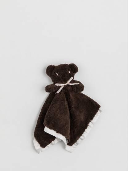 britt 扁扁熊安撫巾 - 巧克力色