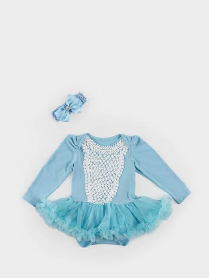 日安朵朵 女嬰雪紡蓬蓬裙連身衣 - 仙杜瑞拉 / 長袖