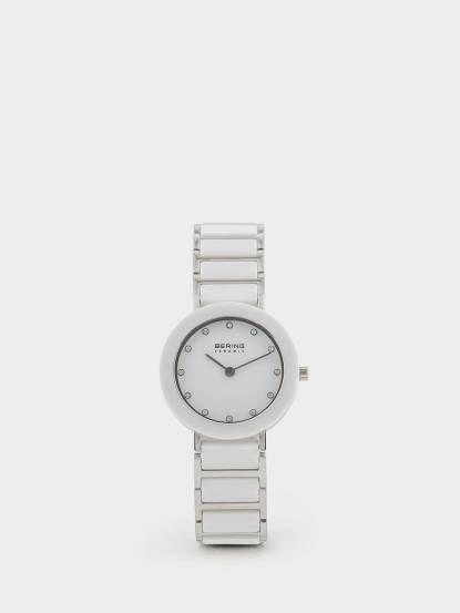 BERING 丹麥手錶晶鑽刻度陶瓷錶系列 - 29 mm x 銀白