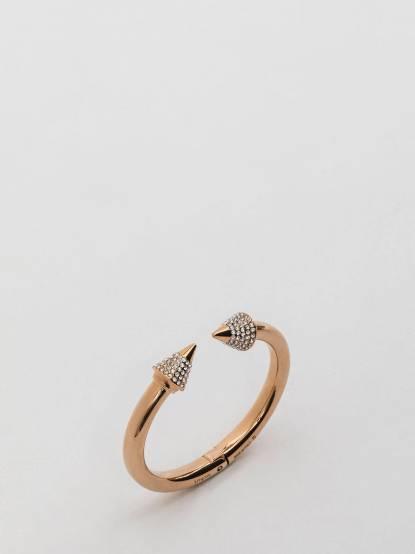 VITA FEDE TITAN 金色小碎鑽飾圓錐造型硬式手環