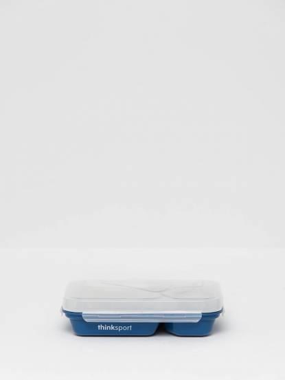thinkbaby 無毒不鏽鋼兒童餐盤套組 - 藍色
