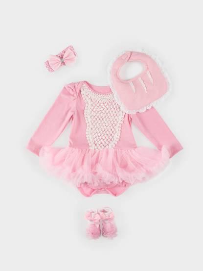 日安朵朵 女嬰雪紡蓬蓬裙連身衣禮盒 - 奧羅拉 / 長袖