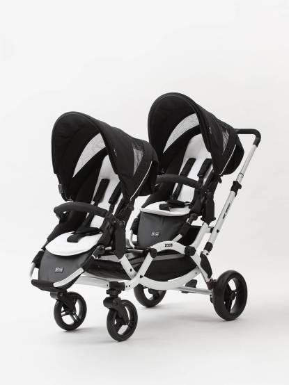 ABC DESIGN ZOOM 雙人推車 - Phantom 黑白款 ( 限量加碼贈新生兒兩用舒適墊 & 原廠好禮二選一 )