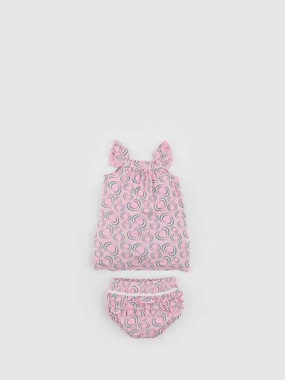 bluebelle 有機竹棉衣褲組 - Baby 系列 / 心花朵朵