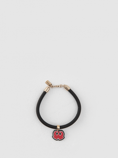 COACH 迪士尼聯名款黑色手環 - 米奇褲子造型
