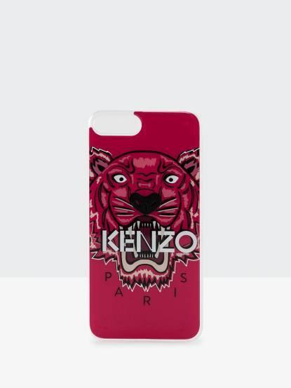 KENZO 3D 立體彩繪虎頭 iPhone 7 plus 軟膠手機殼 - 紅
