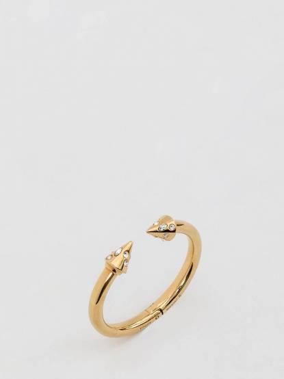 VITA FEDE TITAN 金色鑽飾圓錐造型硬式手環