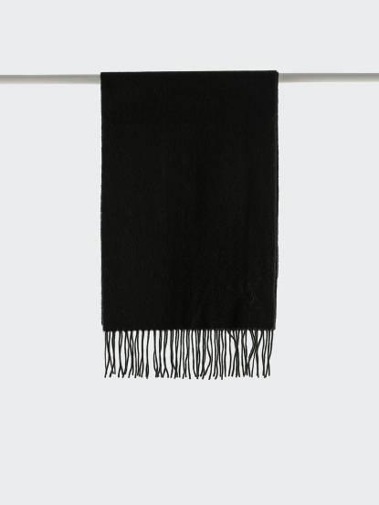 Saint Laurent YSL 素面純羊毛 / CASHMERE 混紡圍巾 - 綠