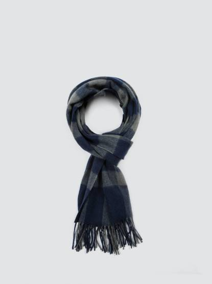 SHOKAY 絲原百福圍巾 - 靛藍 x 湖藍