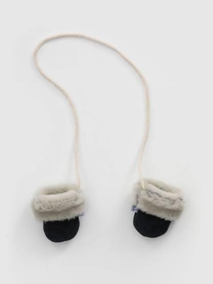 Daisy Roots 百年手工學步鞋禮盒 - 羊毛手套 / 深藍