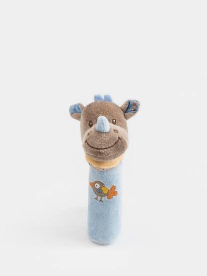 NATTOU 亞瑟 & 路易系列 絨毛造型柱型 bibi 玩偶 - 路易
