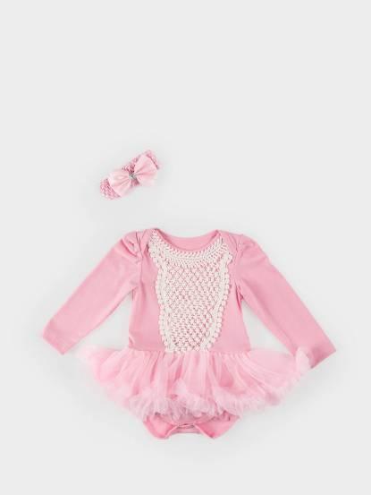 日安朵朵 女嬰雪紡蓬蓬裙連身衣 - 奧羅拉 / 長袖