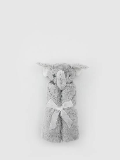 Quiltex 超柔軟動物嬰兒毯安撫毯 - 灰色大象