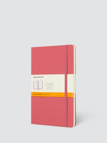 MOLESKINE 經典雛菊粉色硬殼筆記本 - L 型 / 橫線
