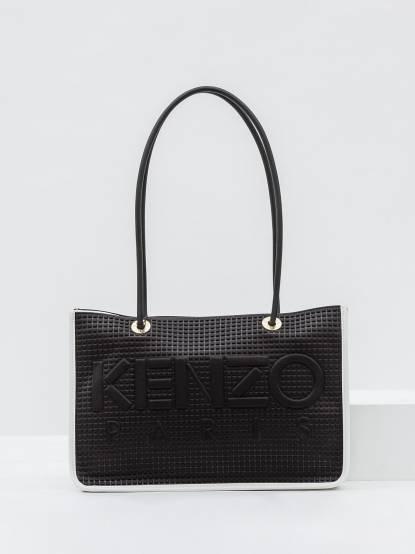 KENZO Kombo Tote Bag 實用輕量兩用包 - 中 / 黑