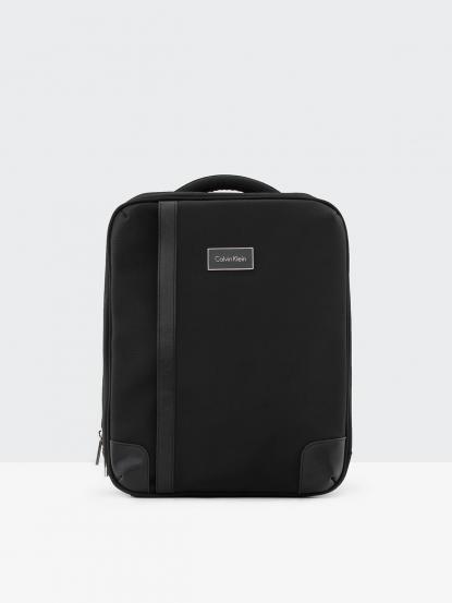 Calvin Klein CK 黑色尼龍電腦公事後背包