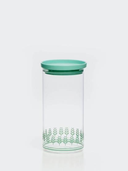 TZULAï 玻璃密封罐 1100 ml - 綠稻穗
