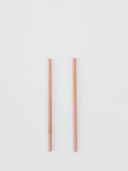 ALCHEMADE 極簡線條紅銅吸管二件組