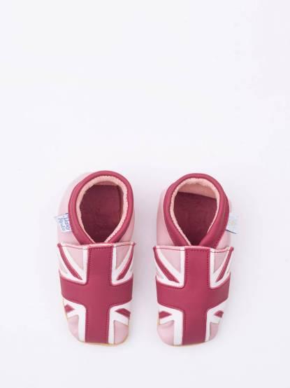 Daisy Roots 百年手工學步鞋禮盒 - 新粉紅國旗