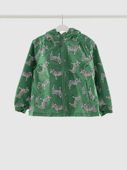 Holly & Beau 神奇變色雨衣 - 綠色斑馬