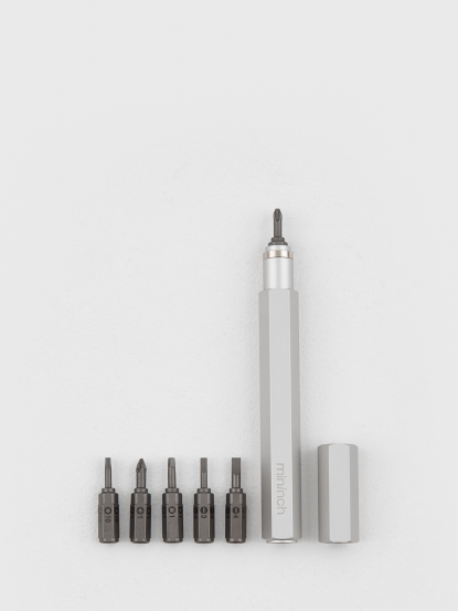 mininch Tool Pen 工具筆 18 件組 - 雪白銀