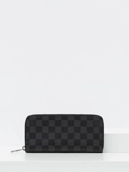 LOUIS VUITTON N63095 Damier Graphite 棋盤格拉鍊長夾 - 黑灰