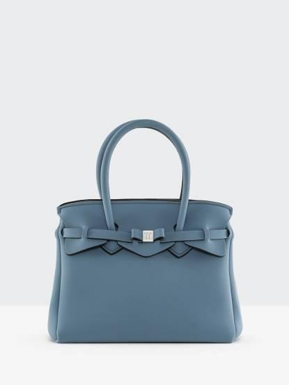 SAVE MY BAG MISS 系列灰藍色蝴蝶結裝飾帶