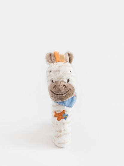 NATTOU 亞瑟 & 路易系列 絨毛造型柱型 bibi 玩偶 - 亞瑟