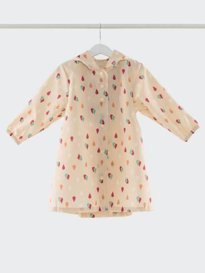 SweetThing 彩色小水滴鵝黃色兒童風雨衣