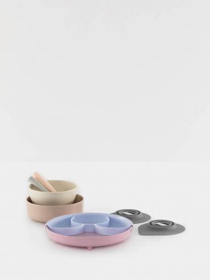 BONNSU Miniware x LUXJOY 天然寶貝兒童學習餐具 巴黎小淑女 禮盒組