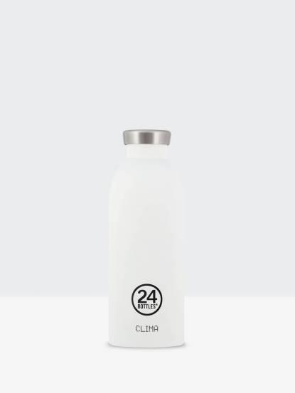 24Bottles Clima 不銹鋼雙層保溫瓶 500ml - 冰雪白