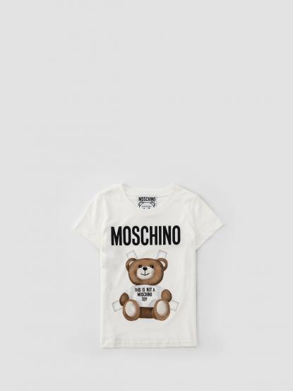 MOSCHINO 白衣熊熊短 T
