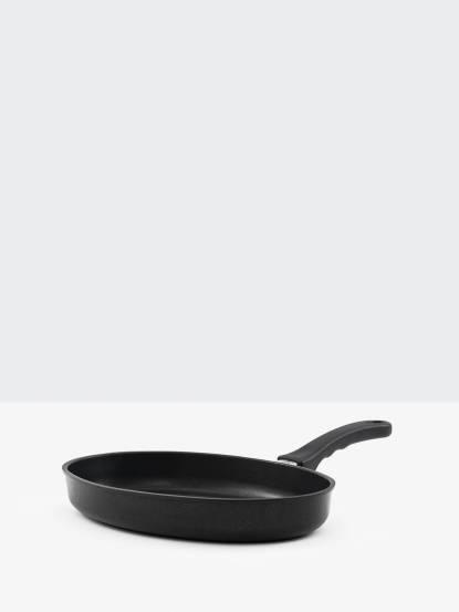 GerPros 德藝緻手工鑄造單柄煎魚平底鍋 - 35 x 24cm