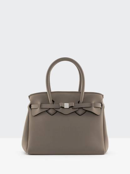 SAVE MY BAG MISS 系列灰棕色蝴蝶結裝飾帶