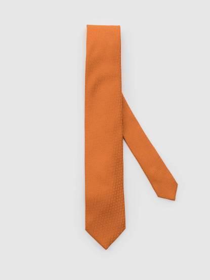 HERMÈS H 字樣領帶 - 橘