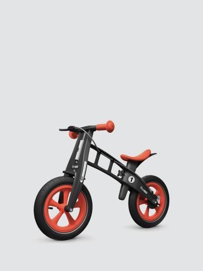 FirstBIKE 兒童滑步車 / 平衡車 - 黑金剛橘紅 / 附煞車