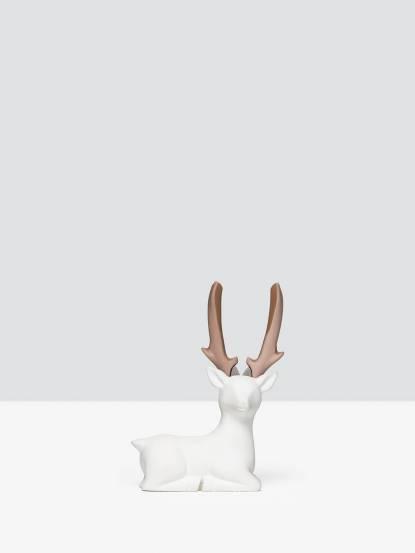 iThinking Dear Deer 臥款 - 裸色尖嘴鉗 / 霧面 x 白