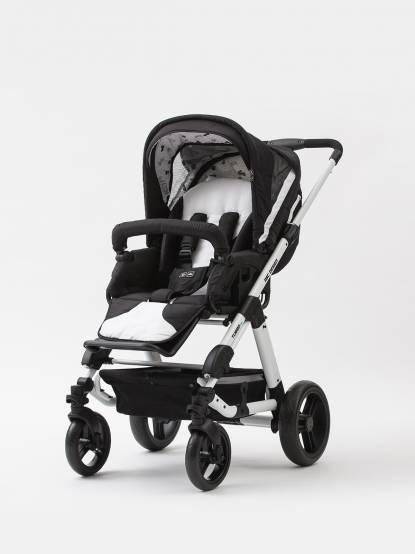 ABC DESIGN Turbo 4S 嬰兒手推車 - Phantom 黑白款