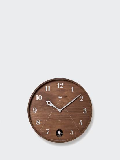 Lemnos 和風圓型咕咕鐘 - 深褐色