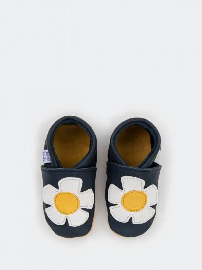 Daisy Roots 百年手工學步鞋禮盒 - 小雛菊 / 藍色