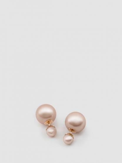 Dior MISE EN DIOR TRIBALE系列 不對稱雙珍珠耳環 - 粉