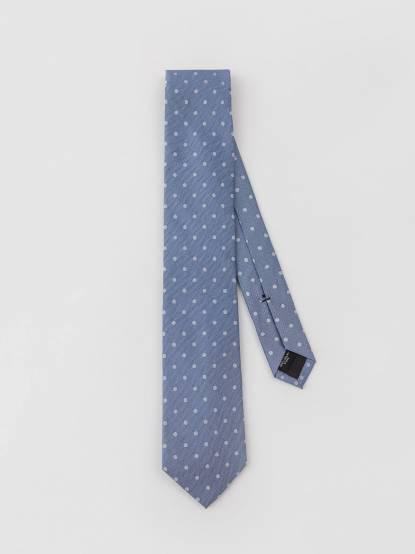 Calvin Klein 淡藍色圓點領帶