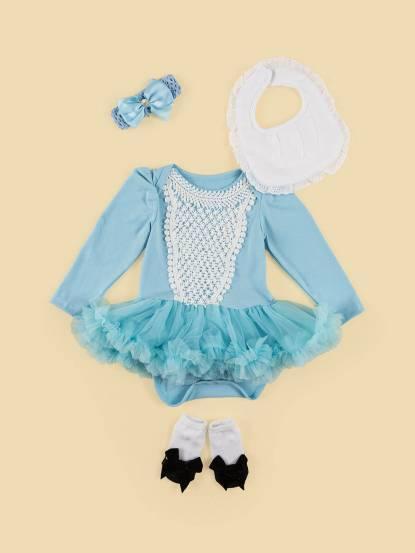 日安朵朵 女嬰雪紡蓬蓬裙連身衣禮盒 - 仙杜瑞拉 / 長袖