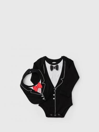 Frenchie mini couture 男嬰禮盒組 - 李傲納多紳士版 / 長袖