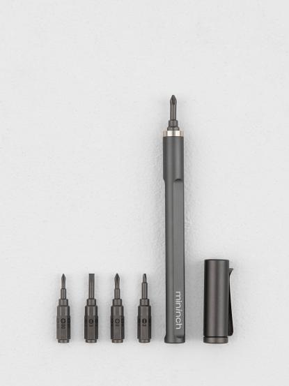 mininch Tool Pen Mini 工具筆 22 件組 - 太空灰