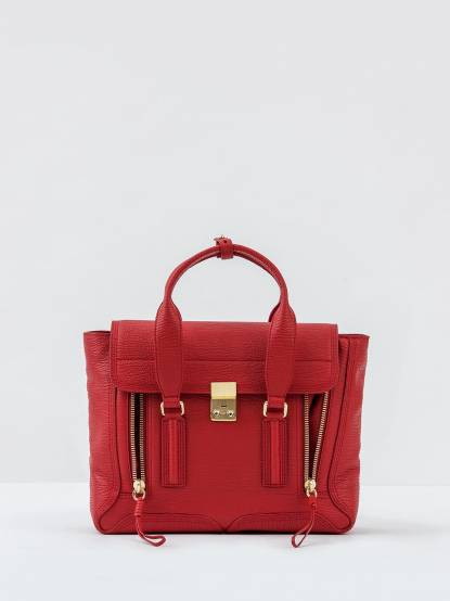 3.1 Phillip Lim Pashli medium satchel 手提側背牛皮兩用包 - 中 / 紅