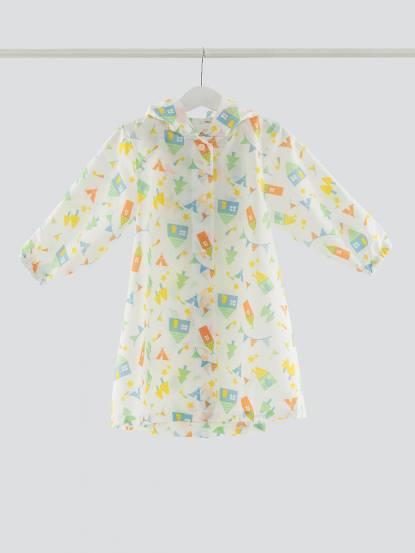 SweetThing 森林小屋派對白色兒童風雨衣
