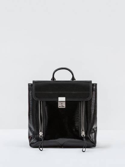 3.1 Phillip Lim Pashli backpack 亮面牛皮雙肩後背包 - 黑